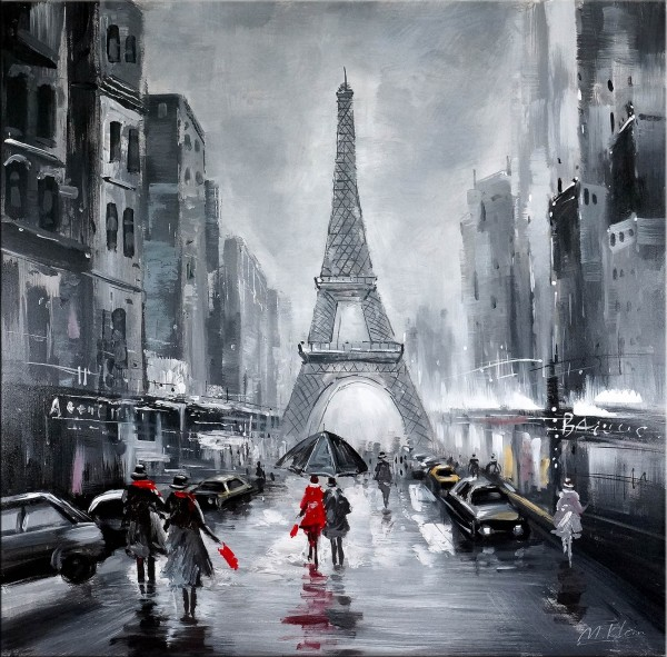 La Tour Eiffel / Eiffel Tower - Oil on canvas - Martin Klein