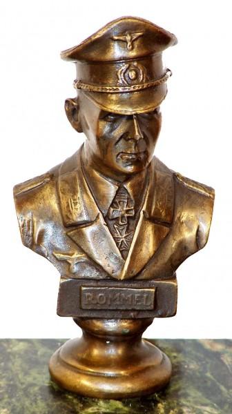 Rommel - Bust Desert Fox Bronze signed Lederer 2. World War