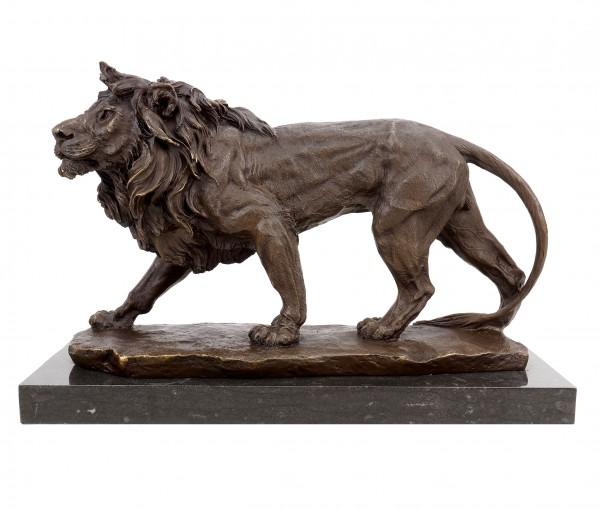 Bronze Animal Sculpture - Walking Lion - Animal Figurine - Signed Milo
