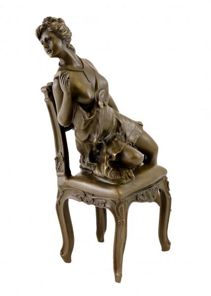 Art Deco Bronze - Dancer in erotic pose - signed D.Campagne