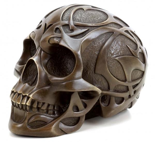 Tribal Skull - Tattoo Skull - Skull Bronze Figurine - Stevens