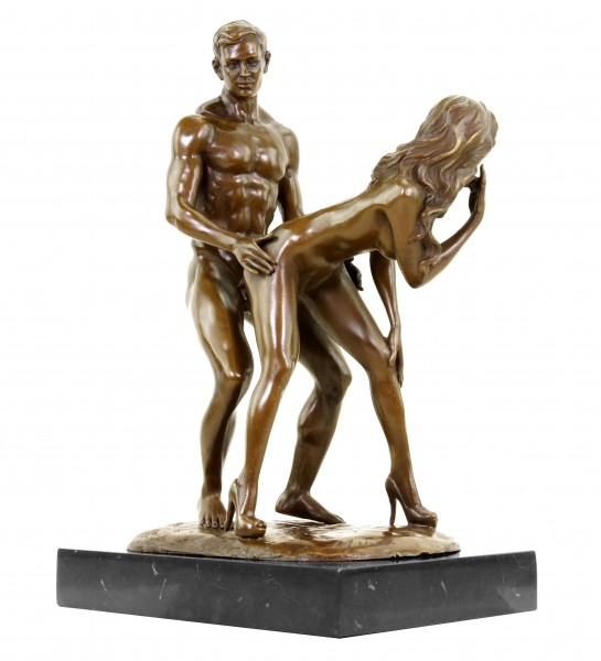 Erotic Bronze - Standing Lovers - Sex Figurine - Signed M. Nick