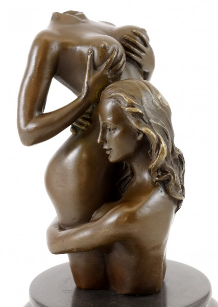 Erotic Woman Torso - The Embrace - Real Bronze - M. Nick