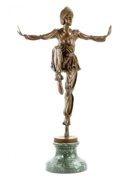 Art Deco Bronze Sculpture - Revue Dancer - signed Chiparus