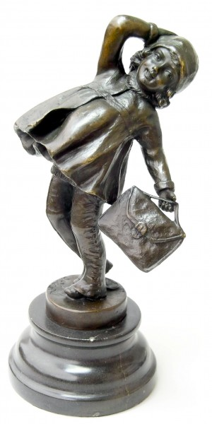 "Art Deco Bronze ""The School Girl"" signed D.H. Chiparus"