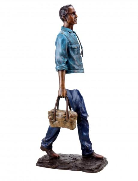 Abstract Bronze Sculpture - Erased Man - Signed Martin Klein - Limited Bronze Figurine
