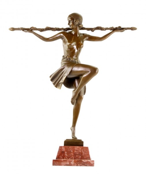 Art Deco Statue - Bacchanalian Dancer - Pierre Le Faguays