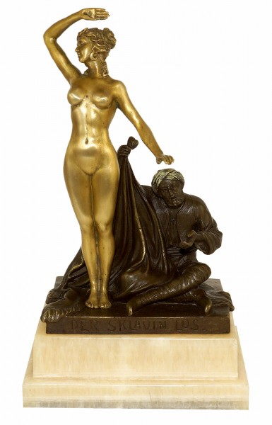 Art Nouveau Statue - The Slave's Fate (1910) - Signed by Theodor