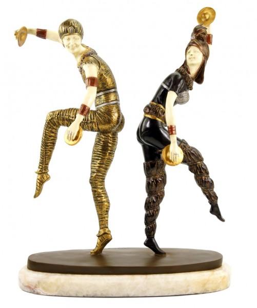 Art Deco Sculpture - Harlequin Dancer - signed Chiparus