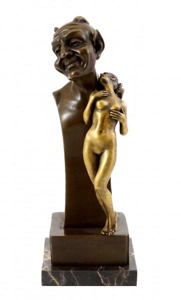 Devil bust with Virgin - Vienna Bronze - Bergmann Stamp