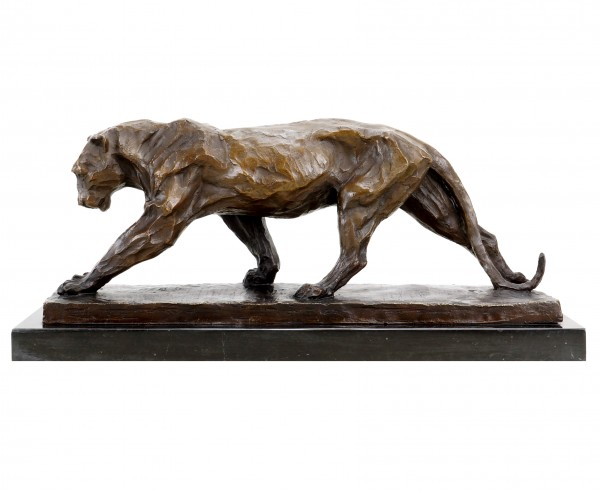 Animal Sculpture - Walking Panther (1904) - Bugatti - Bronze Figurine
