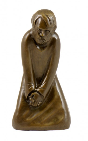 Modern Art Bronze - The Doubter - 1931, signed Ernst Barlach