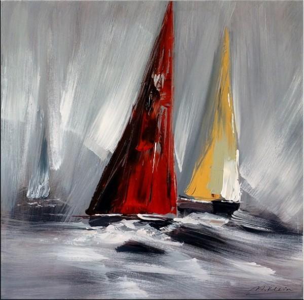 Sailing Regatta II - Acrylic Painting - Martin Klein