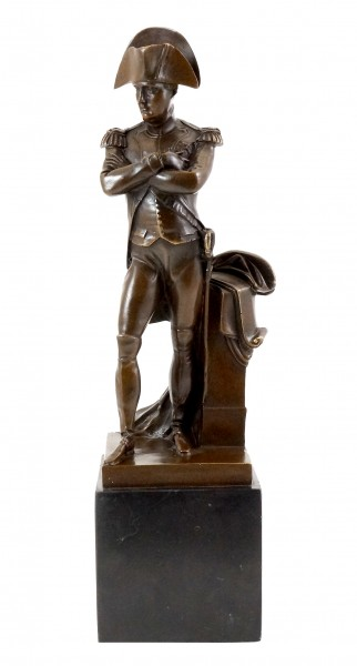 Historic bronze figure - Napoleon Bonaparte - sign. Milo