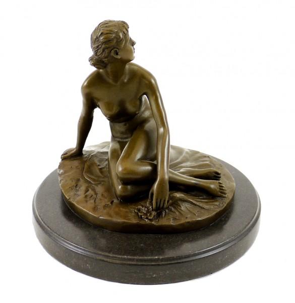Art Nouveau Bronze Figure (1881) - Spring - sign. Peter Breuer