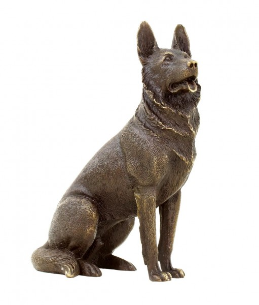 German Shepherd Dog - Animal Figurine - Bronze Miniature - signed Milo