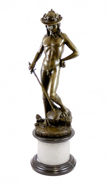 Mythology Bronze - Donatello's David - signed Donatello