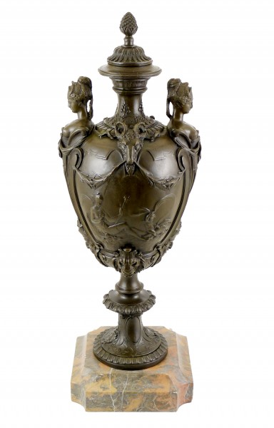 Vase on Marble Base - Real Bronze - signed by Fammand