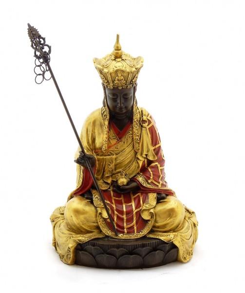 Buddha Bronze Figure hand-painted, signed Milo