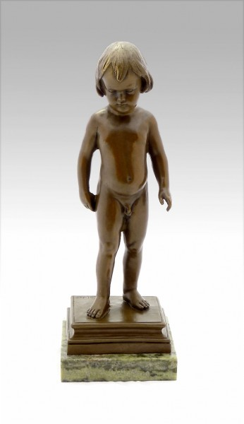 Man Cub - Bronze Figure, Child Naked, signed A. Calder
