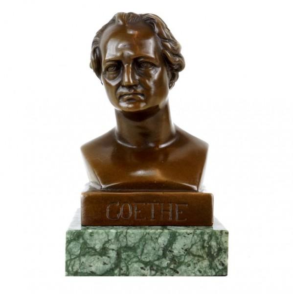 Johann Wolfgang von Goethe bronze Bust - Bronze Figurine - Signed