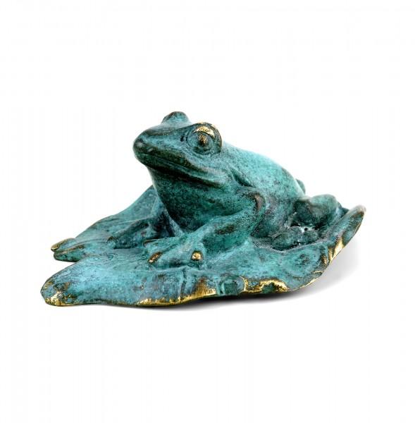 Vienna Bronze - Bronze Frog Figurine - Green Patina - Stamped