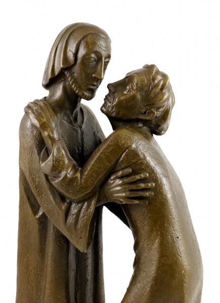 Modern Bronze - The Reunion - 1930, signed Ernst Barlach