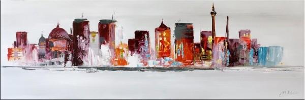 Modern Art - Berlin Skyline - Acrylic Painting on Canvas