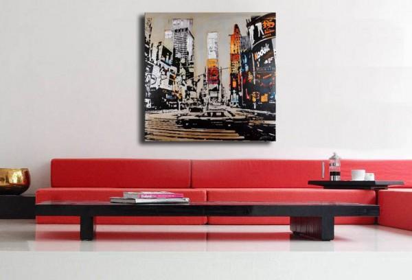 Stencil Printing - Times Square in New York - Martin Klein