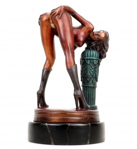 Erotic Girl Lola in High Heels - Signed J. Patoue - Erotic Figurine