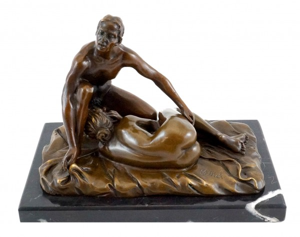 Blow Job / Sex Scene - Erotic bronze figure - 2-piece - M. Nick