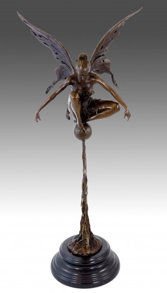 Fairy Bronze - Playing Bronze Fairy - sign. Césaro