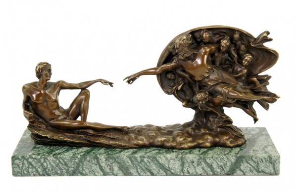 The Creation of Adam - Bronze Statue by Michelangelo