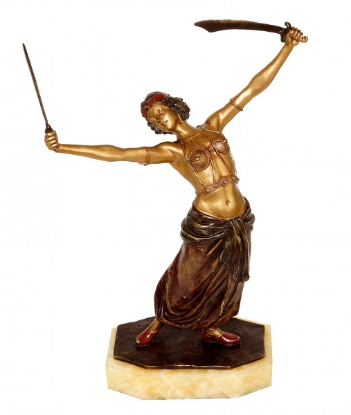 Vienna Bronze - Erotic Female Sword Dancer / Oriental