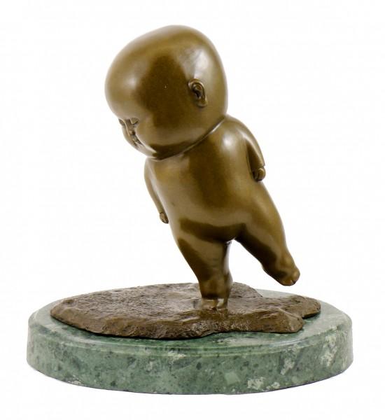 Modern Bronze Figurine - Staggering Fat Boy, sign. M. Klein