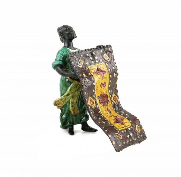 Bronze Arab Figurine - Arabian Carpet Trader - Vienna Bronze