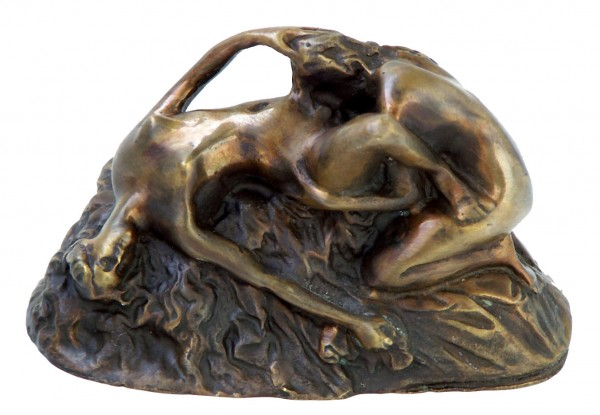 Erotic Vienna Bronze, Two lesbian women o. the rock, Lambeaux