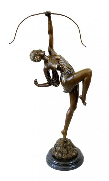 Tall Art Deco Sculpture - Diana - signed Pierre le Faguays