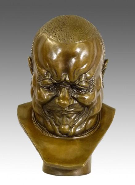 Franz Xaver Messerschmidt - Arch Villain - Bronze sculpture