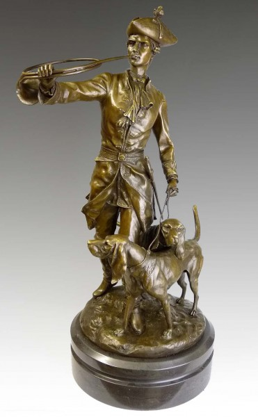 Large sculpture - Manorial hunting scene - from Auguste Moreau