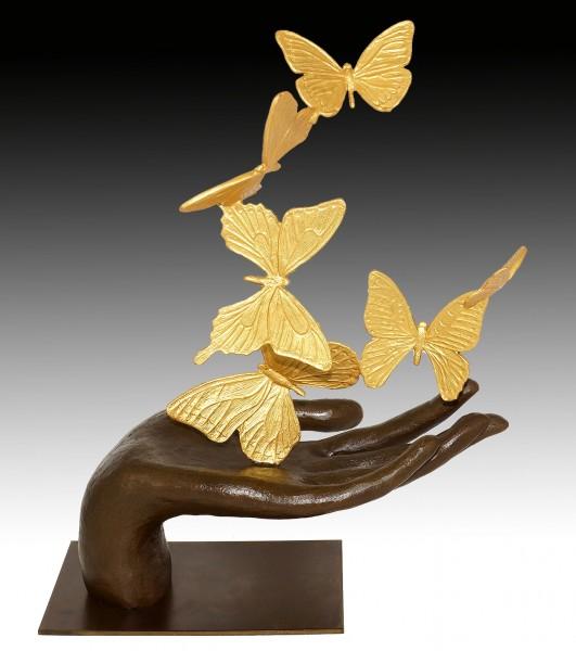 Contemporary Art Sculpture - Flying Away - Butterflies - M. Klein