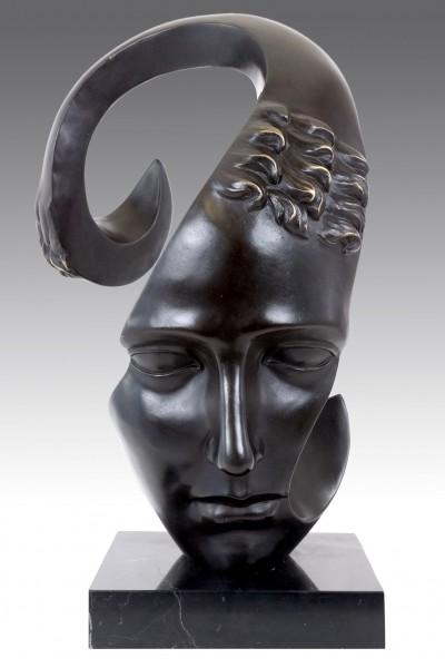 Contemporary Art Bronze Sculpture - Sorrow - signed M. Klein