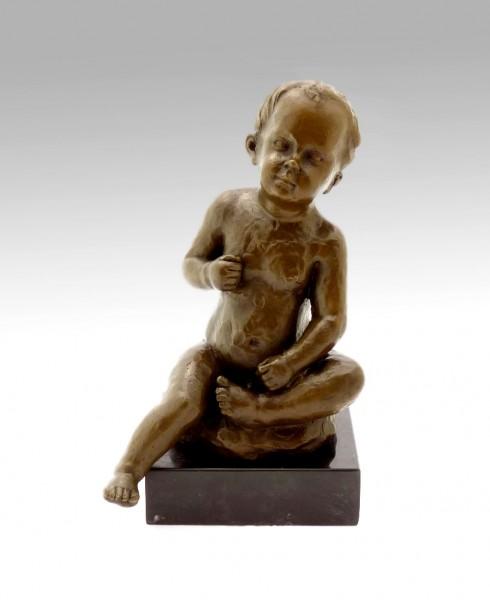 Wilhelm Lehmbruck Bronze - Sitting Boy - signed 1910