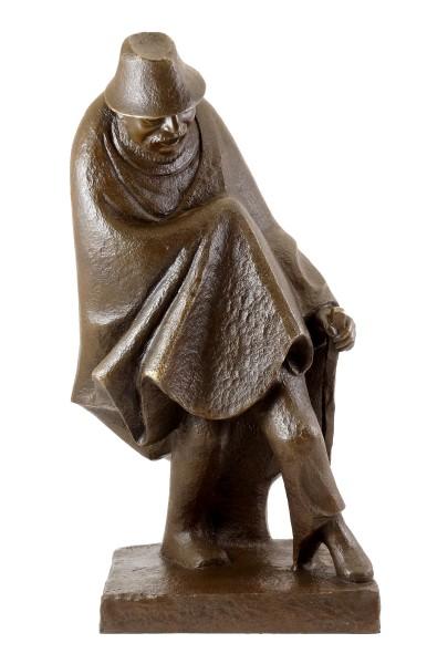 Bronze figure - Hilarious Monopod (1934) - sign. Ernst Barlach