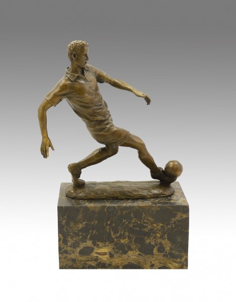 Bronze Sports Trophy - The Football Player - signed Milo