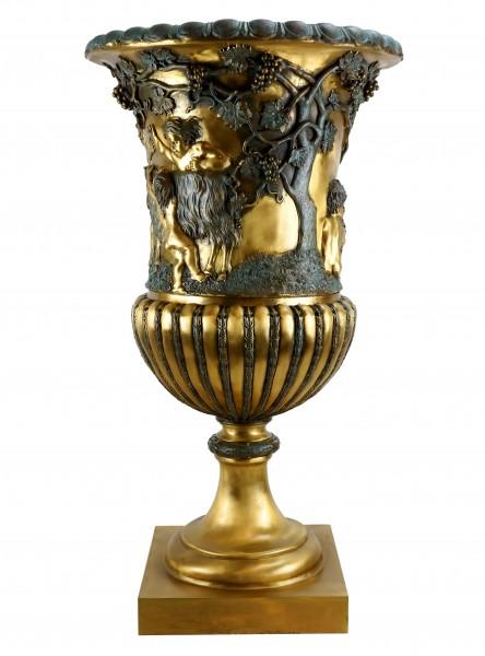 XXL Art Nouveau Amphora - Big Bronze Vase - signed Lorenzl