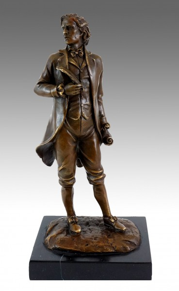 Bronze Figure - Composer Frédéric Chopin - Signed Milo
