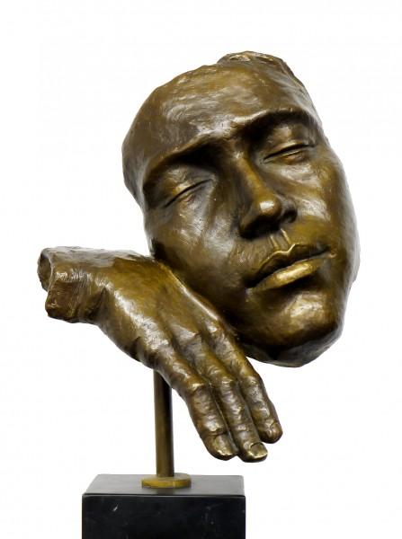 Modern Art Figure - Asleep - Homage to Salvador Dali, signed
