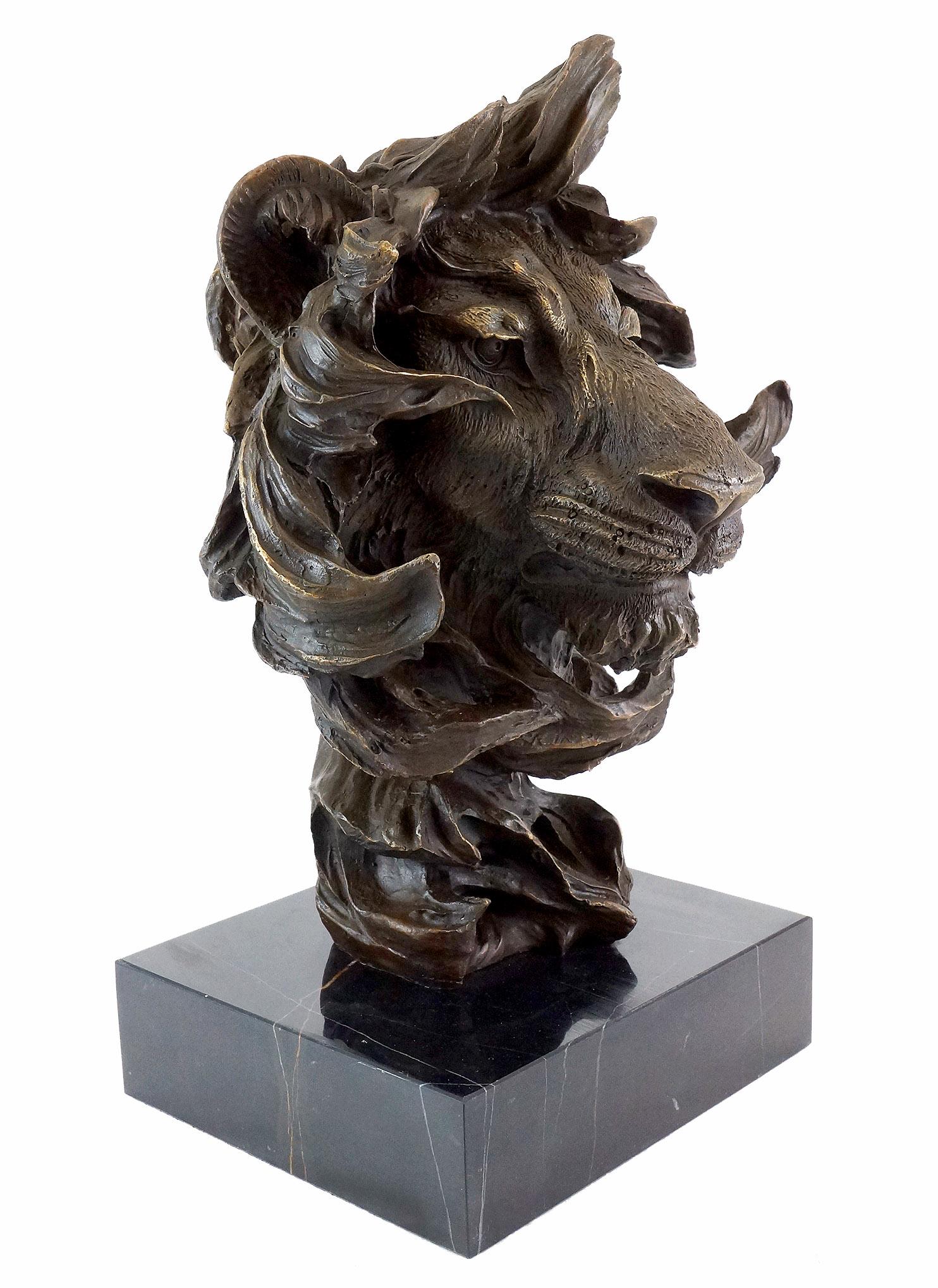 Animal Bronze - Abstract Lions Head - Contemporary Art Milo