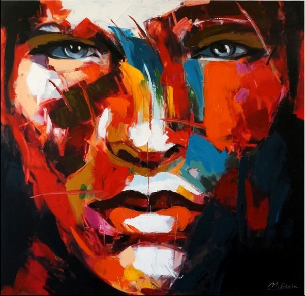 Le visage d´homme I - Acrylic Painting on Canvas